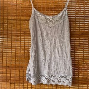 Maurices crinkle lace trim cami size small NWOT
